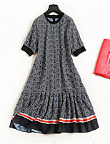 cheap -Women's Vintage / Street chic A Line / Swing Dress Ruffle