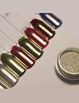 abordables -1pcs Glitter Powder Efecto espejo Nail Glitter Brillante Boda Evento / Fiesta Nail Art Design