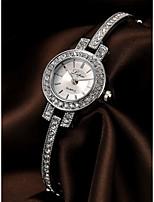 baratos -Mulheres Bracele Relógio Prata / Ouro Rose Cronógrafo Relógio Casual imitação de diamante Analógico Luxo Elegante - Prata Ouro Rose Um ano Ciclo de Vida da Bateria