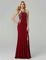 cheap -A-Line Spaghetti Straps Floor Length Chiffon Prom / Formal Evening Dress with Beading Split Front by TS Couture®