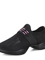 cheap -Women's Dance Sneakers Breathable Mesh Sneaker Outdoor Low Heel White Black 1 - 1 3/4inch Customizable