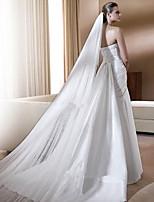 Недорогие -Один слой Цветочный дизайн Сетка Платье-трансформер Длинный Свадьба Euramerican Декоративные Украшения для волос Свадебные вуали Соборная