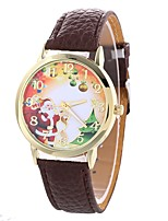 cheap -Women's Quartz Fashion Watch Chinese Large Dial PU Band Casual Minimalist Black White Blue Red Brown Beige Rose
