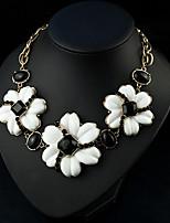 abordables -Femme Fleur Fleur Pendentif de collier  -  Fleur Mode Doux Blanc 40cm Colliers Tendance Pour Fête / Soirée Cadeau