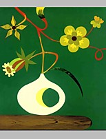 cheap -Oil Painting Hand Painted - Abstract Still Life Vintage Canvas