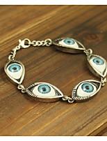 cheap -Women's Cool Bracelet - Evil Eye Gold Silver Bracelet For Carnival Club