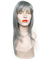 cheap -Synthetic Wig Straight Layered Haircut Bob Haircut Natural Hairline Gray Women's Capless Halloween Wig Celebrity Wig Natural Wigs Long