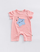 cheap -Baby Unisex Geometric Short Sleeve Romper