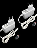 cheap -ZDM® 2pcs 100-240V EU Strip Light Accessory Button Switch Power Supply Plastic for LED Strip light 24W