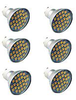 abordables -6pcs 4.5W 300lm GU10 Spot LED 27 Perles LED SMD 5050 Blanc Chaud Blanc Froid 220-240V