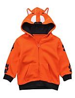 abordables -Garçon Quotidien Sortie Couleur Pleine Jacquard Costume & Blazer, Coton Acrylique Printemps Eté Manches Longues Mignon Actif Orange