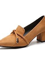 preiswerte -Damen Schuhe Gummi Frühling / Herbst Komfort High Heels Niedriger Heel Spitze Zehe Schwarz / Gelb
