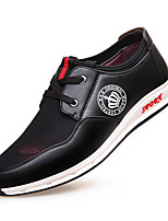 cheap -Men's Shoes Leatherette Spring / Fall Comfort Sneakers Walking Shoes Black / Red