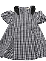 Недорогие -Дети Девочки Полоски С короткими рукавами Платье