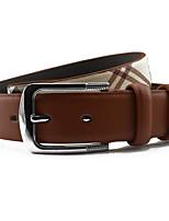 cheap -Women's Work Leather Alloy Waist Belt - Plaid