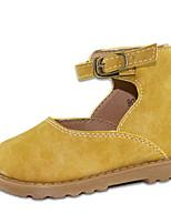 preiswerte -Mädchen Schuhe Künstliche Mikrofaser Polyurethan Frühling / Herbst Komfort Flache Schuhe für Normal Gelb / Kaffee / Rosa