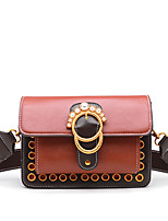 cheap -Women's Bags PU Shoulder Bag Rivet Pearl Detailing for Shopping Casual All Seasons Black Brown Wine