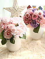 cheap -Artificial Flowers 8 Wedding Flowers / Pastoral Style Roses / Camellia / Chrysanthemum Tabletop Flower / Not Included