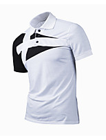 cheap -Men's Basic Polo - Solid Colored Color Block