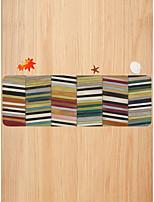 abordables -Créatif Sports & Activités d'Extérieur Moderne Paillasson Carpettes Tapis Anti-Dérapants Molleton, Qualité supérieure Rectangle Rayé