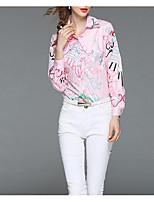 preiswerte -Damen Geometrisch Baumwolle Bluse Quaste Puff Ärmel