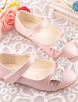 cheap -Girls' Shoes PU Spring / Fall Ballerina / Comfort Flats for Casual White / Blue / Pink