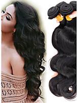 economico -Malese Ondulato naturale Ondulato Tessiture capelli umani 4pcs Carino Soffice Lordo 100% Vergine vendita calda Ciocche a onde capelli