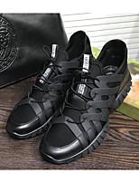 Недорогие -Муж. обувь Свиная кожа Весна / Осень Удобная обувь Кеды Черный