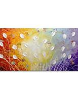 Недорогие -Hang-роспись маслом Ручная роспись - Абстракция Цветочные мотивы/ботанический Современный Modern холст