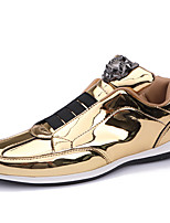 cheap -Men's Shoes Patent Leather Spring Fall Comfort Sneakers for Casual Office & Career Gold Black Silver