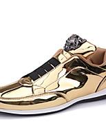 Недорогие -Муж. обувь Лакированная кожа Весна Осень Удобная обувь Кеды для Повседневные Офис и карьера Золотой Черный Серебряный
