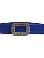 cheap -Women's Active Basic Cubic Zirconia Leather Alloy Skinny Belt