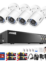 cheap -ANNKE® 4CH 1080P Indoor Outdoor Security Cameras System with 4pcs IP Cameras