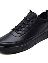 Недорогие -Муж. обувь Искусственное волокно Весна / Лето Удобная обувь Кеды Белый / Черный