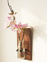 abordables -Fleurs artificielles 0 Une succursale Rustique / Européen Vase Guirlande et Fleur Murale
