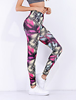 cheap -Women's Sporty Legging - Floral Mid Waist