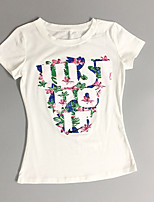 cheap -Women's Basic T-shirt - Floral Letter