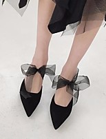 Недорогие -Жен. Обувь Нубук Весна / Осень Удобная обувь Обувь на каблуках На шпильке Черный / Миндальный