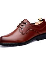 Недорогие -Муж. Официальная обувь Искусственная кожа Осень На каждый день Туфли на шнуровке Черный / Коричневый / Свадьба / Для вечеринки / ужина
