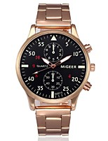 cheap -Men's Dress Watch Chinese Chronograph Stainless Steel Band Fashion Silver / Gold