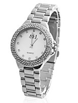preiswerte -ASJ Damen Quartz Armbanduhr Japanisch Armbanduhren für den Alltag Legierung Band Luxus Elegant Silber Gold Rotgold
