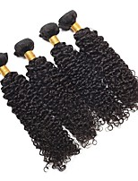 cheap -Malaysian Hair Curly Human Hair Weaves 4pcs Hot Sale / Extention Natural Color Hair Weaves / Human Hair Extensions All Christmas Gifts /