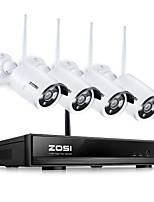 abordables -zosi® 8ch cctv système sans fil 960p nvr 8 pcs 1.3mp ir extérieur p2p wifi ip cctv système de sécurité surveillance kit