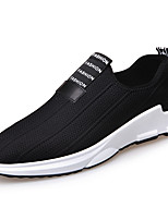 cheap -Men's Shoes Knit Tulle Spring Fall Comfort Loafers & Slip-Ons Walking Shoes for Casual Outdoor Black