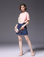 cheap -FRMZ Women's Active Shirt - Color Block, Patchwork Skirt
