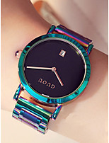 cheap -Women's Bracelet Watch Japanese Chronograph / Water Resistant / Water Proof / Large Dial Stainless Steel Band Minimalist / Colorful Jade