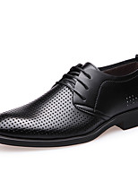 cheap -Men's Shoes Leatherette Spring Fall Formal Shoes Comfort Oxfords Walking Shoes for Casual Office & Career Black Brown