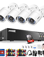 cheap -ANNK® E 8CH 1080P CCTV Security Cameras System with 1TB Hard Drive with 4pcs IP Cameras