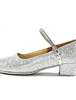 cheap -Women's Modern Shoes Paillette Heel Indoor Customized Heel Customizable Dance Shoes Gold / Silver
