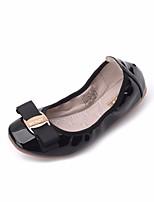 preiswerte -Mädchen Schuhe PU Frühling Herbst Komfort Flache Schuhe für Normal Gold Schwarz Rot